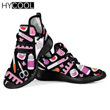 Sneakers Flats Sports-Shoes Nail-Tech Comfort Women Mesh Fitness HYCOOL Lace-Up Proud