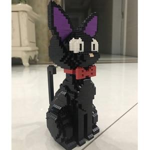 Image 3 - באבו 8806 קריקטורה JiJi שחור חתול לשבת בעלי החיים חיות מחמד 3D דגם 1780pcs DIY יהלומי מיני אבני בניין לבני צעצוע לילדים אין תיבה