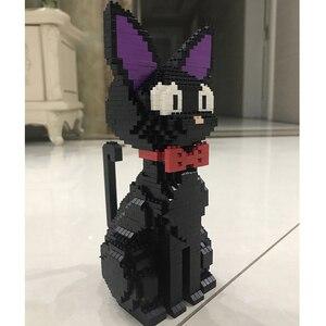 Image 3 - Babu 8806 karikatür JiJi siyah kedi oturmak hayvan Pet 3D modeli 1780 adet DIY elmas Mini yapı taşları tuğla oyuncak çocuklar için hiçbir kutu