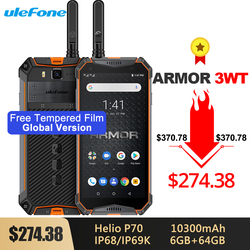 Прочный смартфон Ulefone Armor 3WT IP68, Android 9,0, 5,7 дюйма, Helio P70, 6 ГБ + 64 ГБ, 10300 мАч, 21 МП, NFC, мобильный телефон, Android 9,0