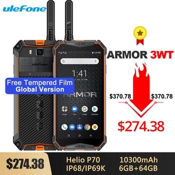 Перейти на Алиэкспресс и купить Смартфон Ulefone Armor 3WT IP68, прочный, Android 9,0, 5,7 дюйма, Helio P70, 6 ГБ + 64 ГБ, 10300 мАч, 21 МП, nfc, мобильный телефон, Android 9,0, сотовый телефон