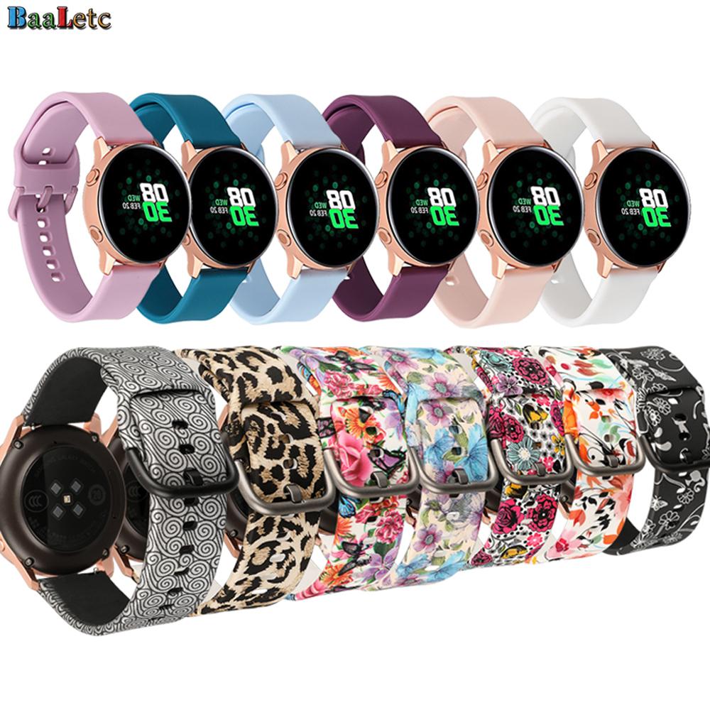 20mm Colorful Silicone Watchband Replacement Strap For Garmin Samsung Galaxy Watch Active Gear S2 S3 Huawei Amazfit Bip Bracelet