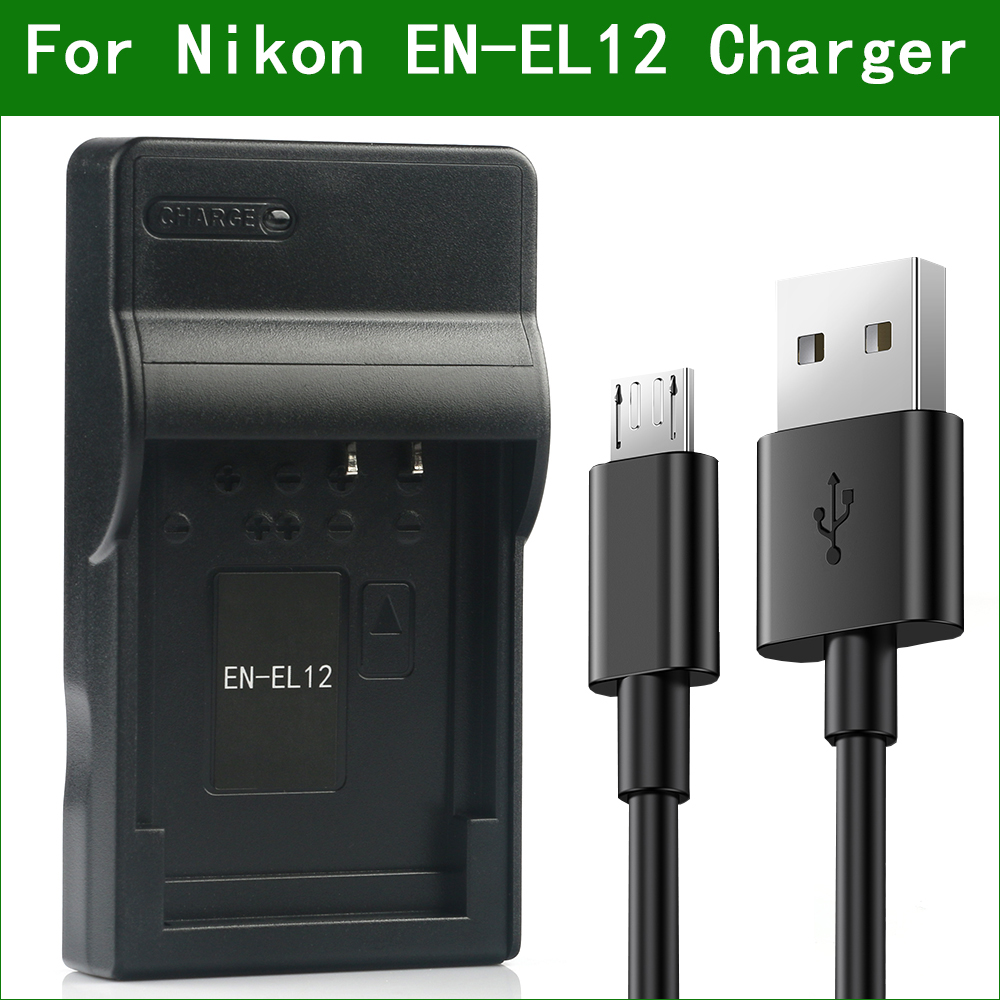 LANFULANG EN-EL12 EN EL12 Micro USB Battery Charger for Nikon W300 P300 P310 P330 P340 S31 S70 S610C S620 S630