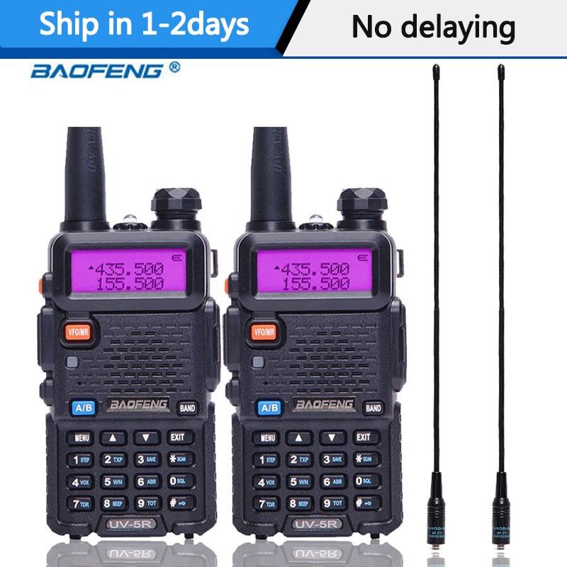 2PCS Baofeng UV-5R Walkie Talkie Portable Radio Station 5W 128CH VHF UHF Dual Band UV5R Two Way Radio for Hunting Ham CB Radio 1
