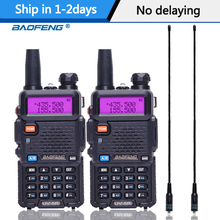 2 pièces Baofeng UV 5R talkie walkie Station de Radio Portable 5W 128CH VHF UHF double bande UV5R Radio bidirectionnelle pour chasse jambon CB Radio