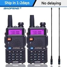 Портативная рация Baofeng UV 5R, 2 шт., радиостанция, 5 Вт, 128 каналов, двухдиапазонный VHF, UHF, двухсторонняя рация UV5R для охоты, любительская рация