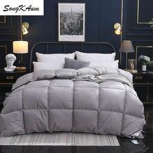 Songkas – couette en duvet d'oie/canard blanc 95%, couettes de maison confortables, haut de gamme, housse 100% coton, King/Queen, pleine taille