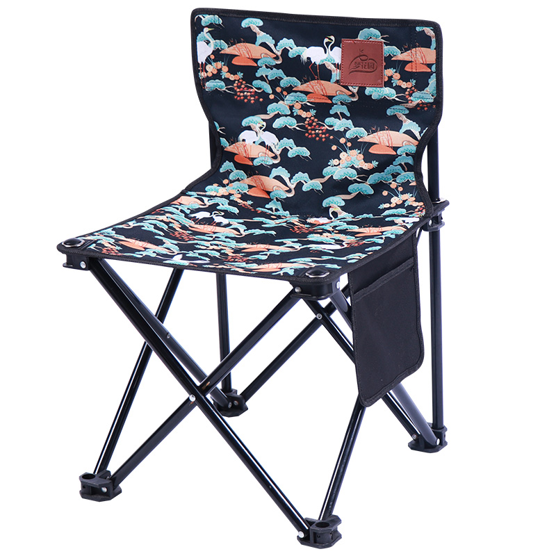Realistic Outdoor Camping Chair Portable Folding Stool Fishing Chair Leisure Barbecue Courtyard Four Seasons Suitable Folding Chair