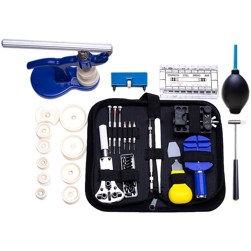 406 Pieces Professional Watch Repair Tool Kit Clock Tools Disassembly Battery Replacement Watch Press Spring Bar Battery Replace