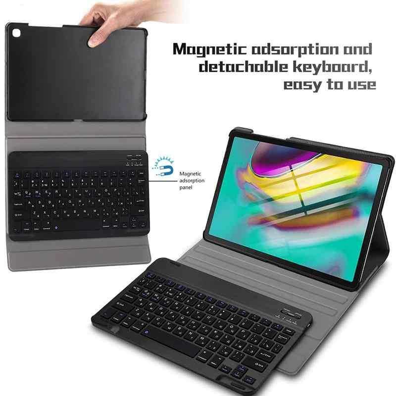 Keyboard untuk Samsung Galaxy Tab S5e 10.5 SMT720 T725 Thin Keyboard Case Bahasa Rusia Bahasa Spanyol Amerika Serikat Perancis Dilepas Bluetooth Keyboard