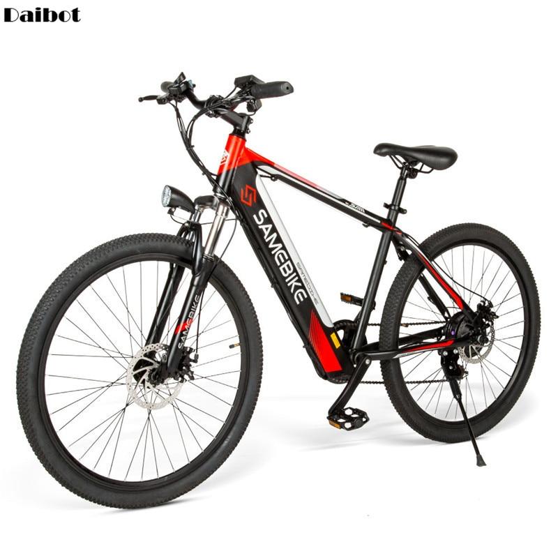Высокоуглеродистая сталь, электрический горный скутер, 7 скоростей, двухколесные электрические велосипеды, 36В, электровелосипед, самобайк SH26 для взрослых Электровелосипед      АлиЭкспресс