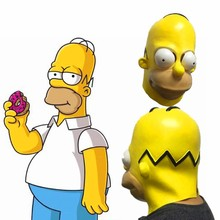 Simpsons Latex Mask Halloween Masque Full Face kids anime cartoon cosplay prop