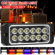 SUHU 12 LED 36W Auto Strobe Licht Notfall Lampe 18-Flash Modell 4300k 12V-24V Auto SUV Fahren Nebel Lampe Arbeit Notfall Lichter CSV