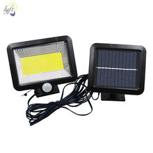 30/56/100 LED lámpara Solar Sensor de movimiento al aire libre impermeable luz Solar dividida jardín patio camino iluminación lámpara de pared(China)