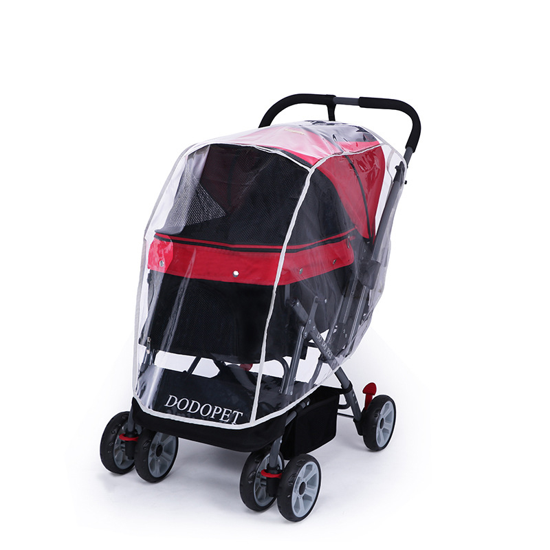 Pet Stroller Rain Cover Stroller Rain Cover Cart Rain Cover for All Kinds of Cat and Dog Carts 17