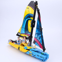 DHL 20074 Technic Car Series The 42074 Racing Yacht Set Building Blocks Bricks Assembly Toys Model children Christmas Gifts lepin 20025 760pcs technic the red engineering excavator set building blocks bricks model toys christmas gifts compatible 8294