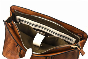 Image 5 - PNDME vintage high quality genuine leather mens briefcase business laptop handbag luxury cowhide office shoulder messenger bags