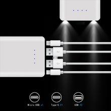 Diy 10x18650 caixa de bateria com indicador power bank escudo caixa externa portátil sem bateria powerbank protector
