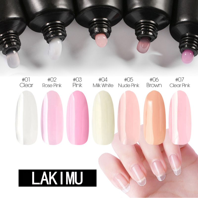 LAKIMU Quick Extension Gel Varnishes Nail Art Crystal Jelly Color Polygel Nail Easy To Handle Acrylic Gel For Nail Extensions
