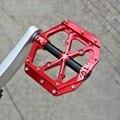 Универсальные герметичные 3 подшипниковые Плоские Педали для велосипеда с ЧПУ ультралегкие алюминиевые педали для горного велосипеда