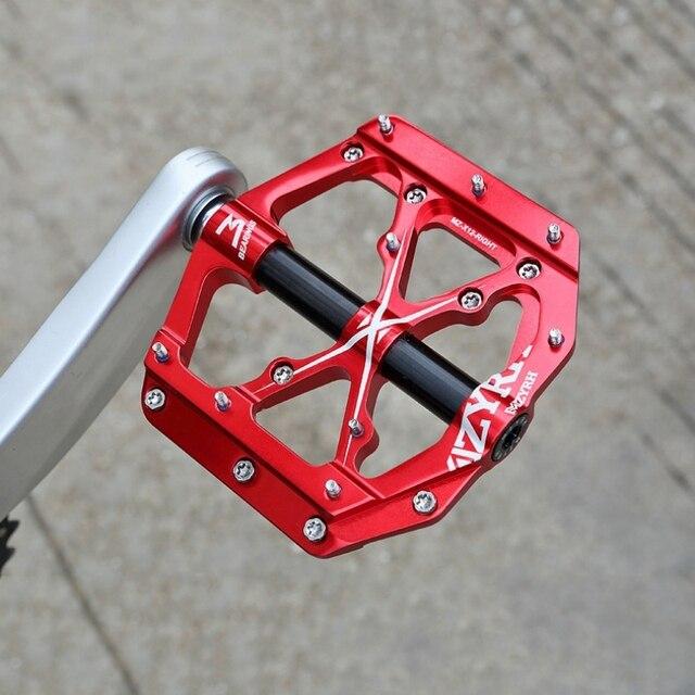 Универсальные плоские велосипедные педали с 3 подшипниками, ультралегкие алюминиевые педали с ЧПУ для горных и дорожных велосипедов