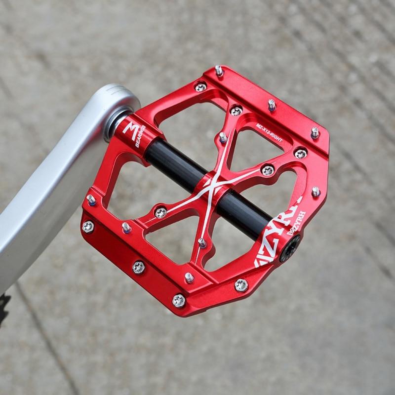 Universal selado 3 rolamento pedais de bicicleta plana cnc ultraleve pedais alumínio para mtb ciclismo estrada
