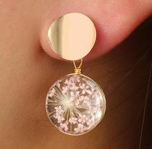 jade earrings  pearl opal Small fresh glass ball full of stars fashion granate natural E6031E6589 E5113