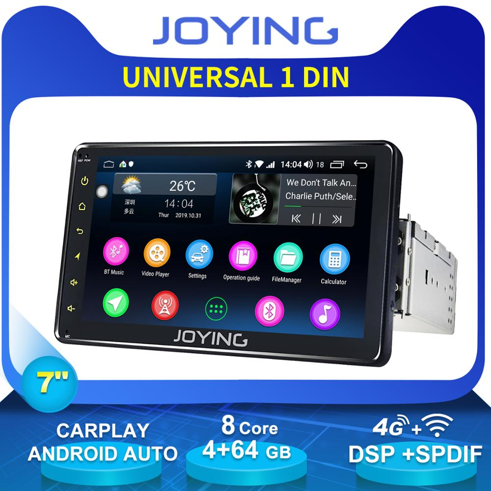 JOYING Auto Car Accessories 7Android Car Radio Stereo Single 1 Din Universal Head Unit Cassette Tape recorder Rear View Camera image