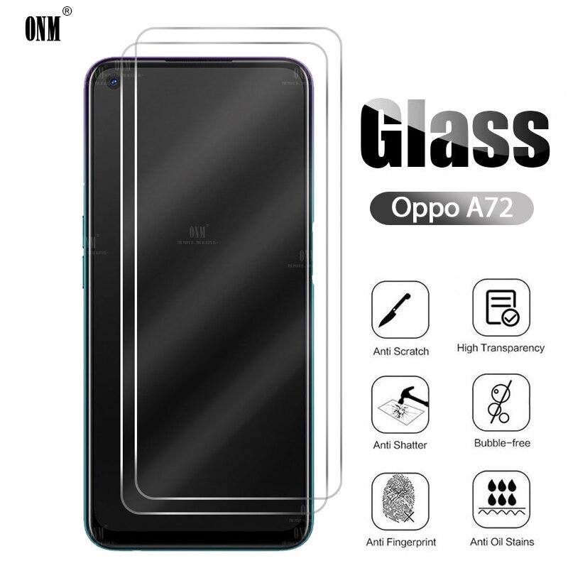 2 protectores de pantalla Oppo A72 de vidrio templado para Oppo A72