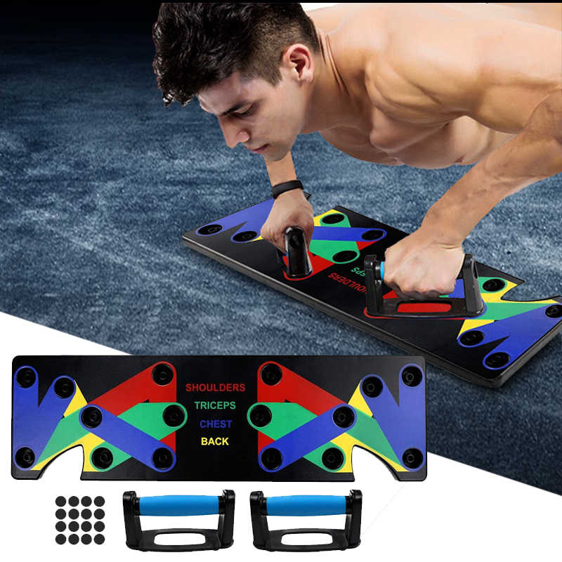 9 In 1 Push Up Rack Training Boord Abs Buikspier Trainer Sport Thuis Fitnessapparatuur Voor Body Building Workout oefening