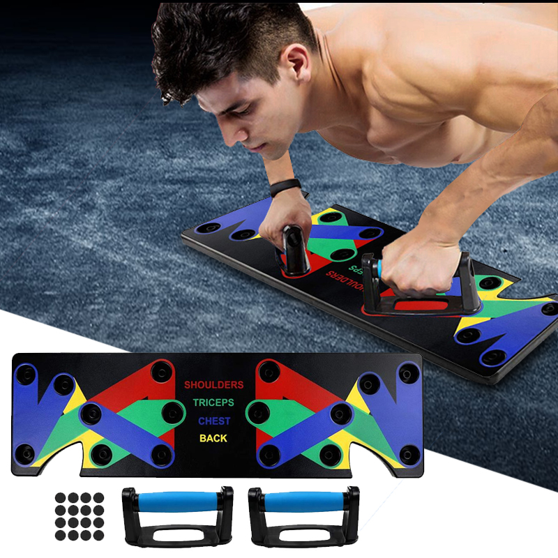9 in 1 Push Up Rack Training Board ABS abdominal Muscle Trainer Sports Home Fitness Equipment for body Building Workout Exercise(China)