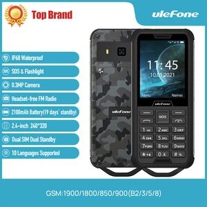 """Image 2 - Ulefone שריון מיני 2 טלפון נייד חיצוני הרפתקאות טלפון 2.4 """"Smartphone MTK6261D אלחוטי FM רדיו 2100mAh 0.3MP כפולה ה SIM"""