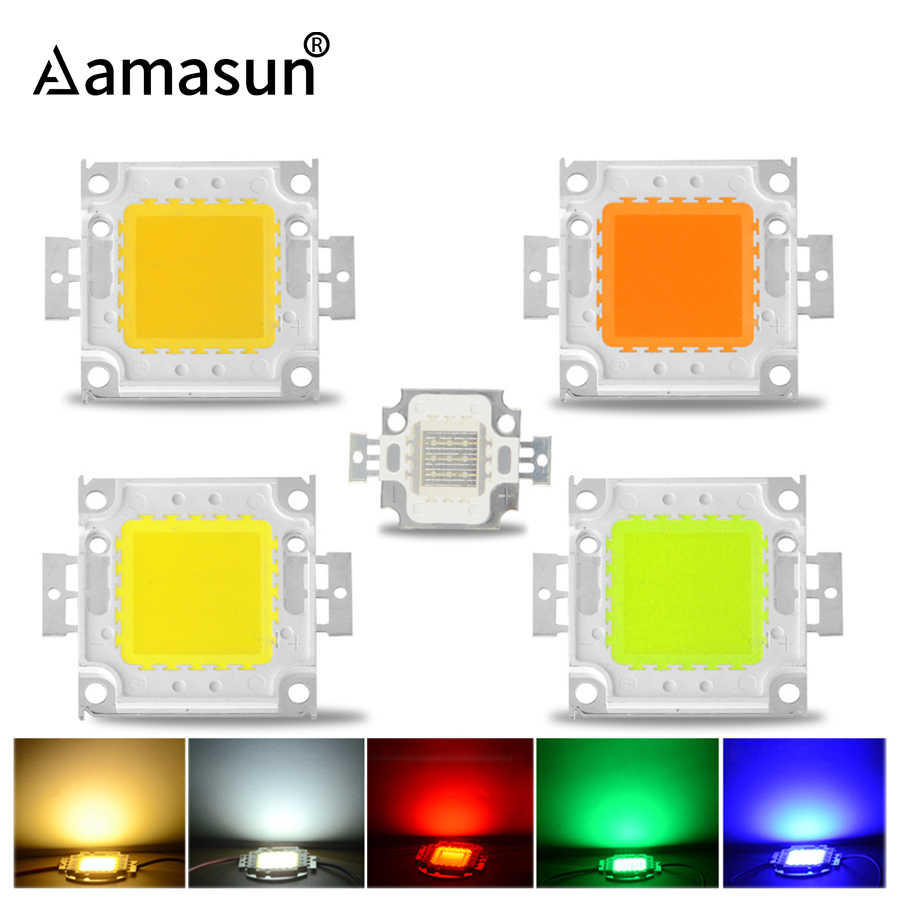 High Power LED COB Chip 10W 9-12V 20W 30W 50W 100W 30-36V Integrated LED Beads DIY Lighting Accessories for FloodLight Spotlight