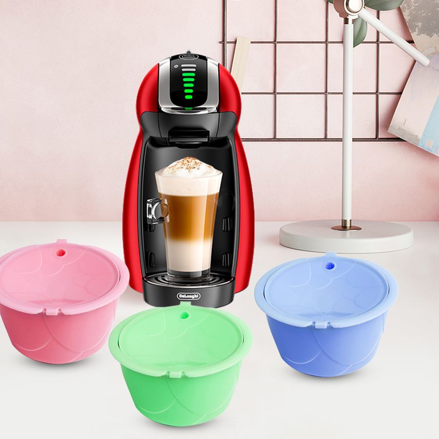 ICafilas Rose New Design Reusable For Dolce Gusto Coffee Capsule Refilable Filter Best For Birthday/Lover Gift