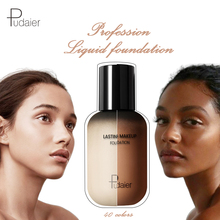 Pudaier Professional Face Foundation Makeup Full Coverage Liquid Cream Matte Base Concealer Cosmetic