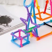 53шт ручная работа ребенок пластик интеллект палочки образовательные строительные блоки игрушки
