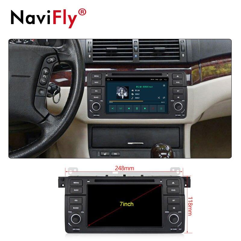 NaviFly Android 9.1 autoradio dvd gps pour BMW série 3 E46 M3 1998 2005 système stéréo unité de tête WIFI BT 2 + 32G lecteur multimédia - 6