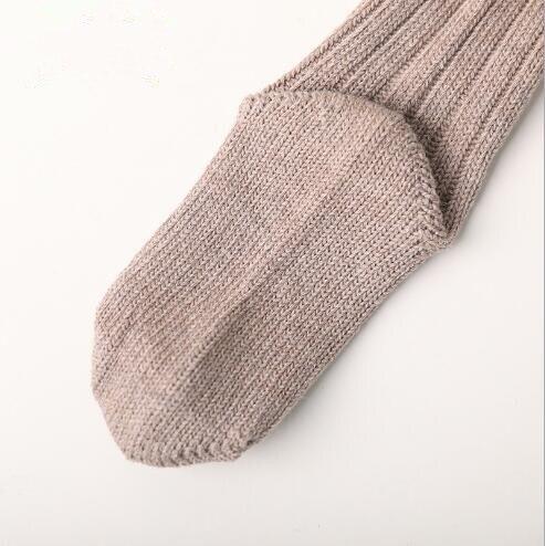 Winter new children's socks thick line knitting in tube socks female baby warm cotton socks fashion velvet bow piled socks 4