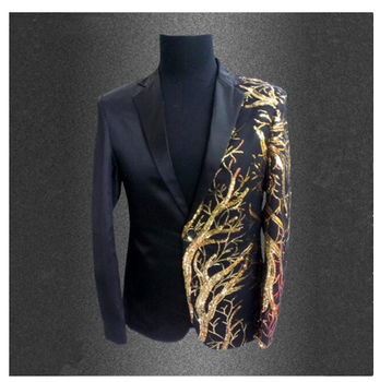 men's clothing paillette suits singer blazer Male formal dress costume clothes for dancer star performance nightclub party bar