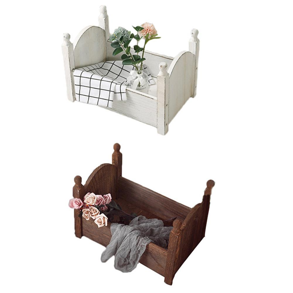Baby Small Photography Bed Wooden Bed Photo Studio Photography Props Newborn Small Wooden Crib For Baby Boys Girls In Stock