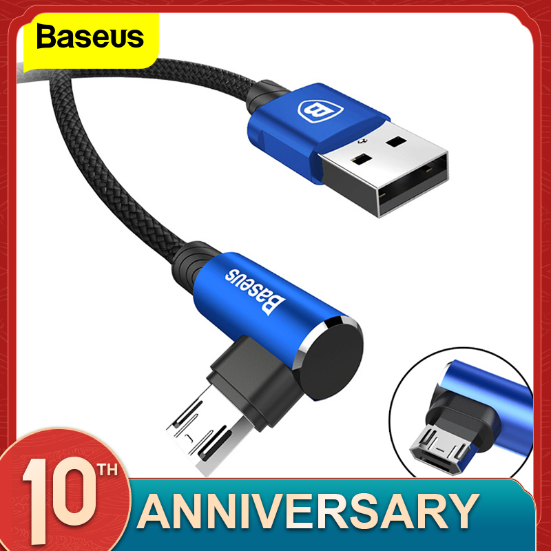 Baseus Reversible Micro USB Cable Fast Charging Charger Micro Wire Microusb Cable For Samsung Xiaomi Android Mobile Phone Cables|Mobile Phone Cables| |  - AliExpress