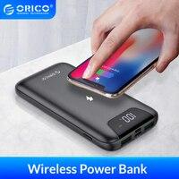 Orico 10000 mah sem fio power bank para iphone samsung xiaomi powerbank bateria externa sem fio de carregamento usb para o telefone móvel