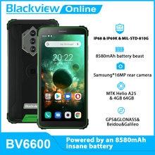 Blackview novo bv6600 octa núcleo 4gb + 64gb ip68 à prova dip68 água 8580mah smartphone áspero 5.7