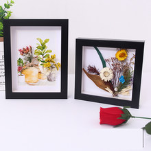 Creative Shadow Box Depth 2CM For DIY Flowers,Art Crafts,Pins, Medals,Tickets Dispaly,3D Photo Frame,Mounted Wall Decorative