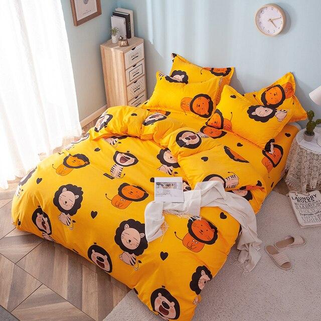 Solstice Home Textile Girl Kids Bedding Set Honey Peach Pink Duvet Cover Sheet Pillowcase Woman Adult Beds Sheet King Queen Full 2