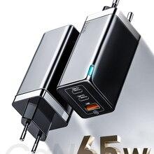Baseus Ган 65W зарядное usb-устройство Quick Charge 4,0 3,0 QC4.0 QC PD3.0 PD USB-C кабель USB Type-C с функцией быстрой USB зарядное устройство для iPhone 12 Pro Max Macbook