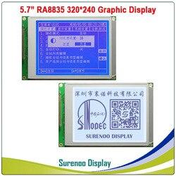 5.7 320X240 320240 لوحة الرسم وحدة عرض LCD LCM مع وحدة تحكم RA8835 الأزرق الأبيض LCD مع LED الخلفية