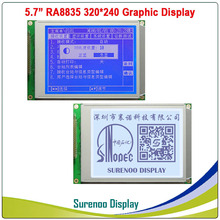 "5.7"" 320X240 320240 Graphic LCD Module Display Panel Screen LCM with RA8835 Controller Blue White LCD with LED Backlight"
