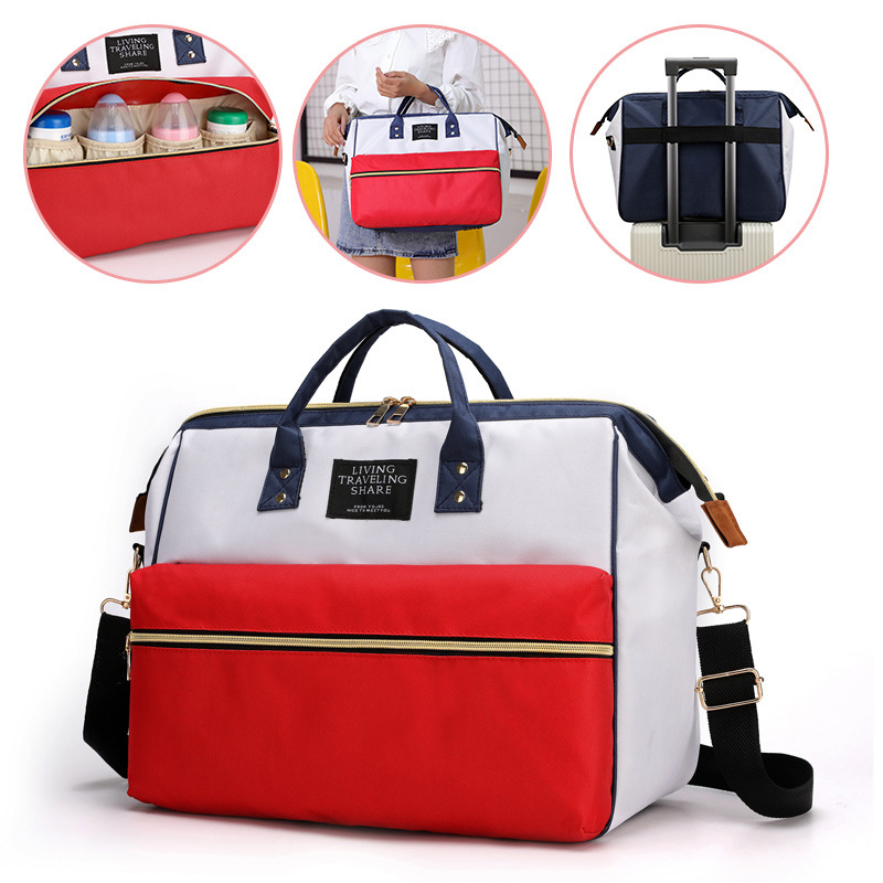 Waterproof Canvas Diaper Bags Travel Storage Bag Mummy Maternity Nappy Bag Multifunctional Large Capacity Storage Space Baby Bag