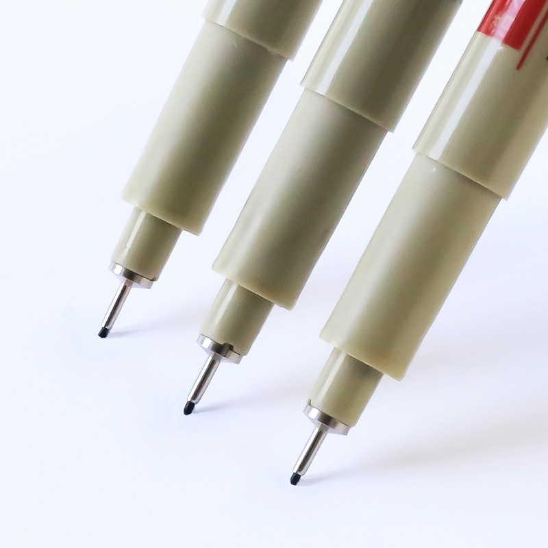 Professional Drawing Porous-Point เข็ม MARKER ปากกาหมึกสีดำนุ่มแปรงปากกากันน้ำศิลปะวาดเขียนเครื่องมือ